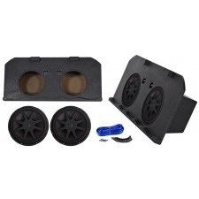"2002-13 Chevy Avalanche+Cadillac Escalade EXT Dual 15"" Kicker Subwoofers+Sub Box"