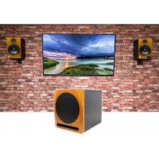 """2 Rockville HTS8C 8"""" 1000w Bluetooth Home Theater Speakers+10"""" Sub+Wall Brackets"""