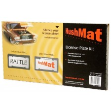 "HushMat 10600 4""x12"" License Plate Kit With License Plate Frame Included"