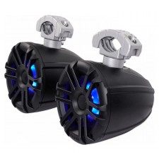 "(2) Memphis Audio MXA60TB 6.5"" 150w Marine Boat Wakeboard Tower Speakers - Black"