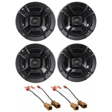 "Polk Audio Front+Rear 6.5"" Speaker Replacement Kit For 02-06 Nissan Altima Sedan"