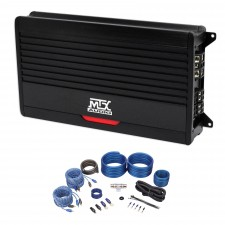 MTX THUNDER75.4 400 Watt RMS 4-Channel Amplifier 2-Ohm Car Stereo+Amp Wire Kit